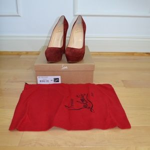 Christian Louboutin Red Bibi 140pumps, Size 38 NIB